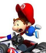 Baby Mario in Mario Kart Wii