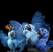 Carla, Bia, and Tiago