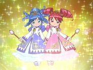 Fushigiboshi no Futago Hime Fortune Princesses transformation pose