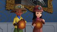 Princess Vivian & Princess Kari in Their Safari Outfits