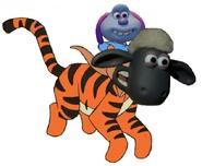 Shaun And Lu-La As Tigger And Roo