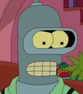 Bender Bending Rodríguez in The Simpsons