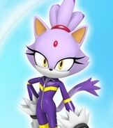 Blaze the Cat in Sonic Free Riders