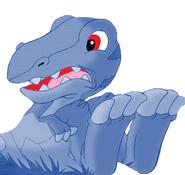 Blue Baby Deinonychus (OC)