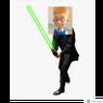 Lewis Dressing Up as Luke Skywalker