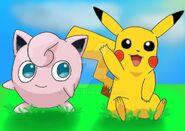 Pikachu and jigglypuff painting by shadowx875-dbsnpfa