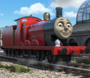 James the red engine as Duck the great western engine