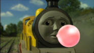 Molly blowing bubble gum 2