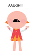Peppy Pom Poms screaming Aaugh!!