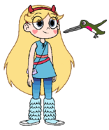 Star meets Anna's Hummingbird