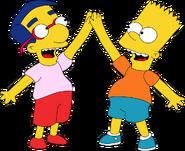 Bart Simpson and Milhouse Van Houten