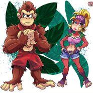 Donkey Kong and Candy Kong