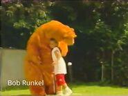 Isa hugs Bear