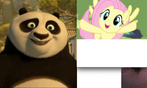 Po and Fluttershy