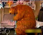 Timea gives Bear a hug