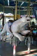Turtle Back Zoo Carousel Polar Bear