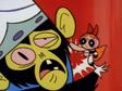 Here's Blossom Punching Mojo Jojo