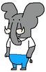 Homer Simpson - African Bush Elephant