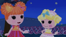 Peppy Pom Poms and Candle Slice O' Cake eating Taffy.PNG