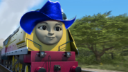 Rebecca with cowboy hat 8833