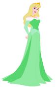 Aurora Wore Green Dress