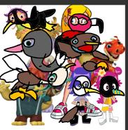 Birdfied Wally, Libby, Gina, Bobgoblin, Sabrina, Ami and Yumi