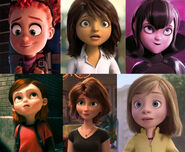 Tulip, Lucy Tucci, Mavis, Penny, Aunt Cass and Riley Anderson (My Little Girls - The Movie)