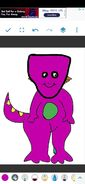 DW as Barney