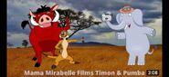 Timon, Pumbaa and Mama Mirabelle