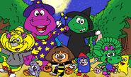 Barney and dora s costume parade by purpledino100 dcqthtt-fullview
