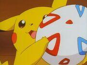 Pikachu got the egg 7