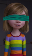 Riley Andersen blindfolded