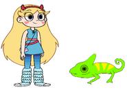 Star Meets Veiled Chameleon
