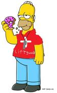 Lifeguard Homer Simpson