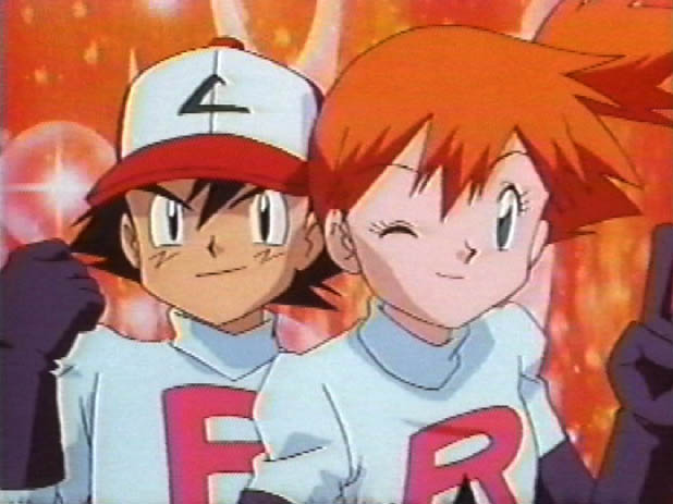 Ash and Friends Imitate Team Rocket's Motto