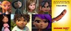 Penny, Coraline Jones, Riley Andersen, Vanellope von Schweetz, Margo, Tip and Mai hates Sausage Party