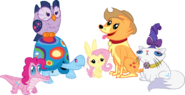 The Mane 6 as their pets