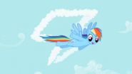 Rainbow Dash happy face
