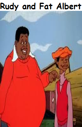 Rudy and Fat Albert (Timon and Pumbaa)