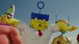 Spongebob and the team to fight burger beard