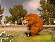 Jonathan gives Bear a hug