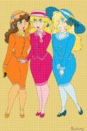 1920s Princess Peach, Princess Daisy, and Princess Rosalina