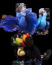 Blue, Jewel, Rafael, and Eva