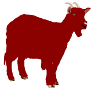 Ferdinand the Dark Red Goat