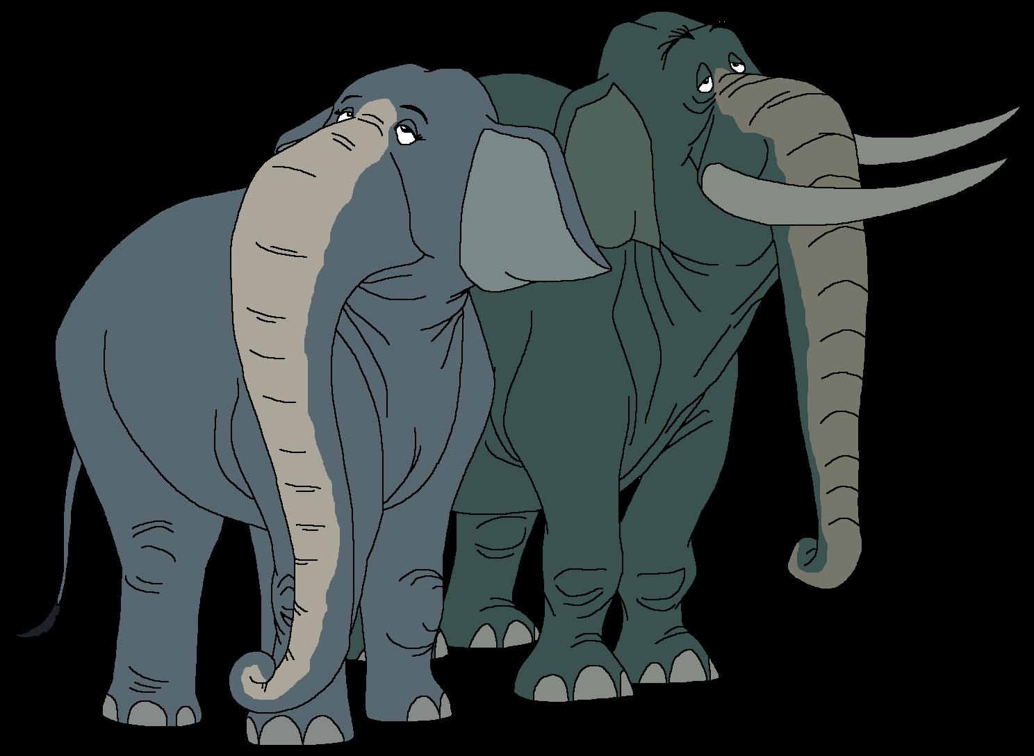 Grandma and Grandpa Elephant