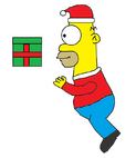 Homer Simpson (Christmas) in Macy's Thanksgiving Day Parade