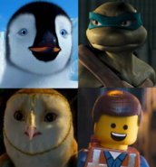 Mumble, Leonardo, Soren and Emmet