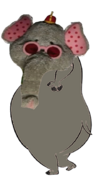 Snorky as a hippo