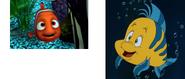 Nemo and Flounder