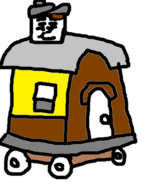 Old Slow Coach in paper style.